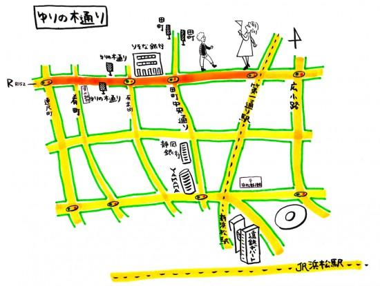 ゆりの木通りの地図